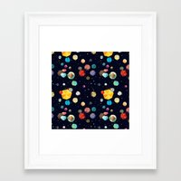 low poly Framed Art Prints featuring Low Poly Space by Evan Smith