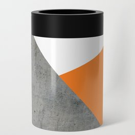 Concrete Tangerine White Can Cooler