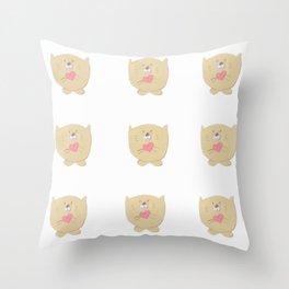 Curious buddy Throw Pillow