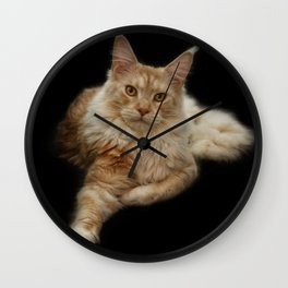 Maine Coon Lady Wall Clock