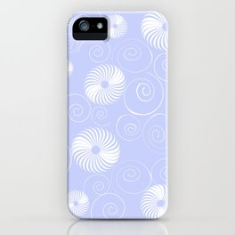 White Spirals iPhone Case