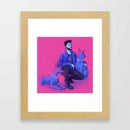 The Weeknd - Abel with Julius + Caesar Framed Art Print