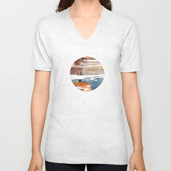 Autumn by the sea Unisex V-Neck