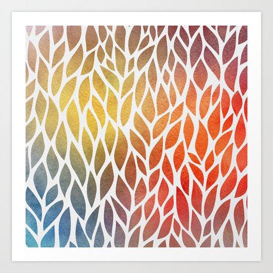 Petals Pattern #4 Art Print