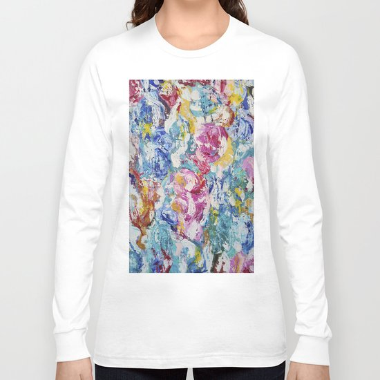 Abstract floral painting Long Sleeve T-shirt