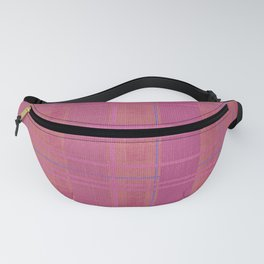 pink madras Fanny Pack