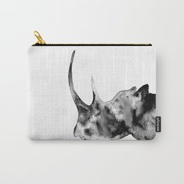 Rhinoceros, black and white Carry-All Pouch