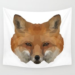 Geometrical Red Fox Wall Tapestry