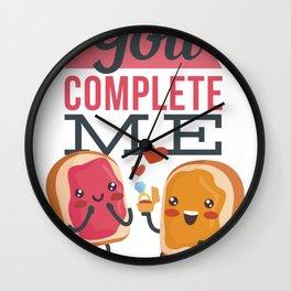 valentine's food  Wall Clock