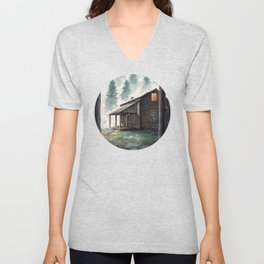 Cabin in the Pines Unisex V-Neck