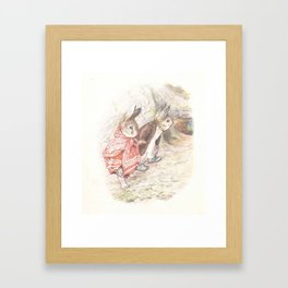 Mummy and Daddy rabbit Framed Art Print