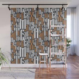 Cyrillic letters Wall Mural
