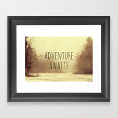 Adventure Awaits II Framed Art Print