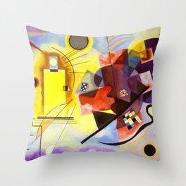 Wassily Kandinsky Yellow Red Blue Throw Pillow