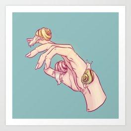 Hand Study No.1 // The Snails One Art Print