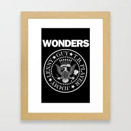 The Wonders x punk rock Framed Art Print