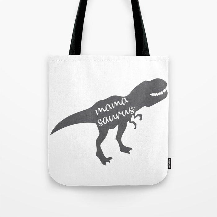 Mama Saurus T-rex Dinosaur Tote Bag by arch4design  3b7430983