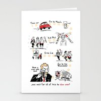 shaun of the dead Stationery Cards featuring Shaun of the Dead by Rob O'Connor