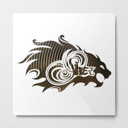 Sher (Lion) Metal Print