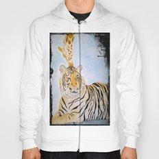 Giraffe Kissing Tiger Hoody