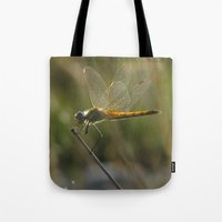 dragonfly Tote Bags featuring dragonfly by giol's