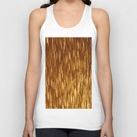 gold glitter Tank Tops featuring Gold Glitter 1394 by Cecilie Karoline