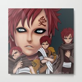Gaara- Life Stages Metal Print