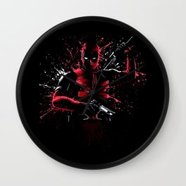 Dead Bloody Ninja Wall Clock