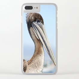 proud pelican Clear iPhone Case