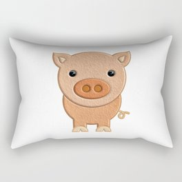 Cerdito de peluche - Pig of teddy Rectangular Pillow