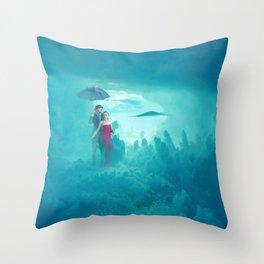 Clouds rain Throw Pillow