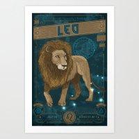 Zodiac 11: Leo Art Print