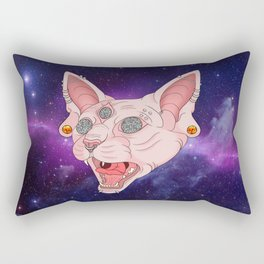 Cats in Space Rectangular Pillow