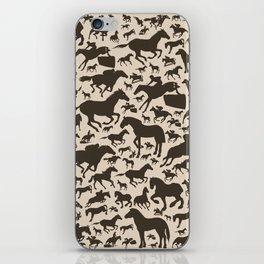 Horse a background iPhone Skin