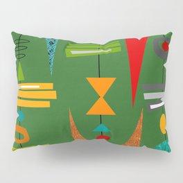 Mid-Century Modern Green Tiki Tok Pillow Sham
