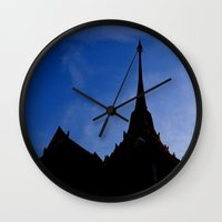 thailand Wall Clocks featuring THAILAND by habish