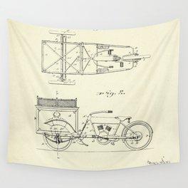 Three Wheel Truck-1914 Wall Tapestry