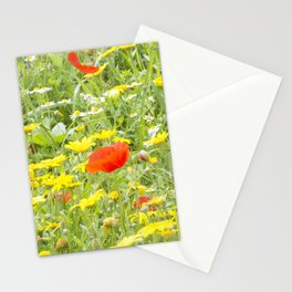 poppies and daisies Stationery Cards