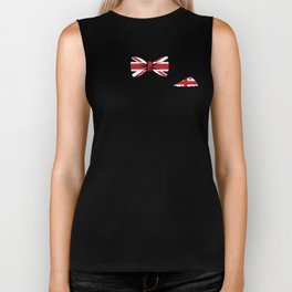 Union Jack Bowtie Handkerchief United Kingdom Flag Biker Tank