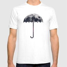Space Umbrella II Mens Fitted Tee SMALL White