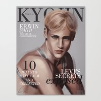 snk Canvas Prints featuring SnK Magazine: Erwin by emametlo