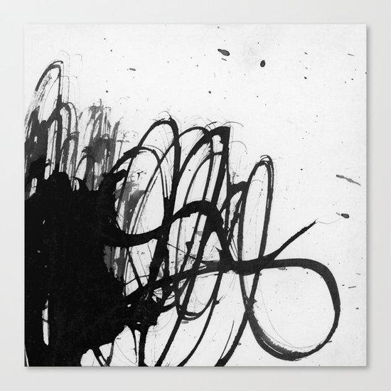 line stain dynamics Canvas Print