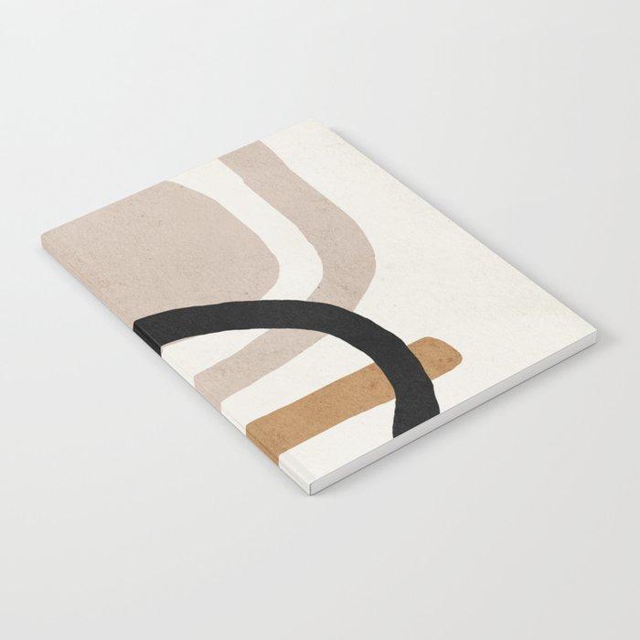 Abstract shapes art, Mid century modern art Notebook