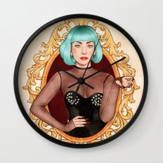 Teal Lady Wall Clock