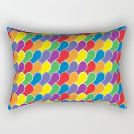 Pride Heart Scale Pattern Rectangular Pillow