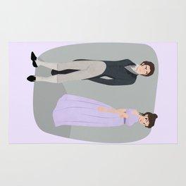 Pride and prejudice | Elizabeth and Darcy Rug