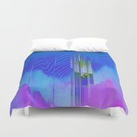 waterfall Duvet Covers featuring Waterfall by DuckyB