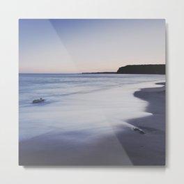 Magic sunset. Square. Algarve beach Metal Print