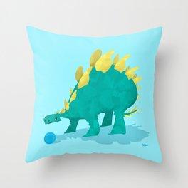 Stegosaurus and his Ball Throw Pillow