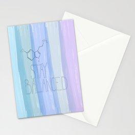 Serotonin...stay balanced stay happy-blues Stationery Cards